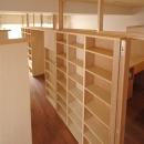 家具で仕切りをつくったマンションリノベの写真 部屋の中央の仕切り家具
