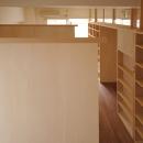 家具で仕切りをつくったマンションリノベの写真 個々のブースの仕切り