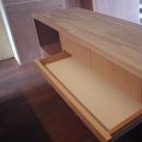 家具で仕切りをつくったマンションリノベの写真 キッチンに作った造作の収納