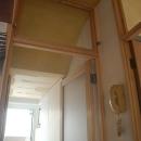 家具で仕切りをつくったマンションリノベの写真 ドア上部のランマ