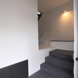 スキップした玄関 (愛犬と暮らす家 地下室のあるOUCHI-13)