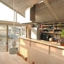 空とともに暮らす家の写真 ダイニングからみたキッチン