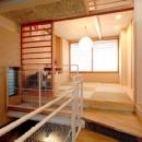 空とともに暮らす家の写真 タタミの寝室