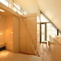 12坪の敷地にたつ3階建て (3階のベッドルーム)