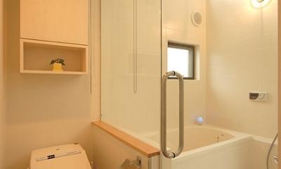 3階のバスルーム|12坪の敷地にたつ3階建て