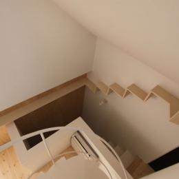 ネコと犬と暮らす家・オウチ14 (人の階段・猫の階段)
