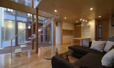 大潟の家 (1階リビング・ダイニング)