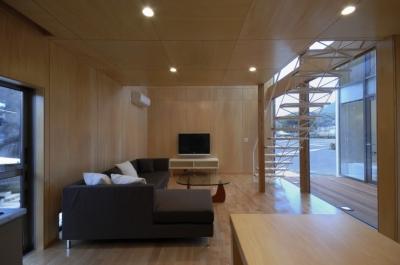 大潟の家 (1階リビング)