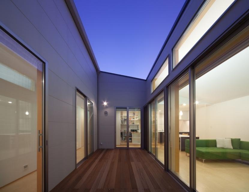 折敷瀬の家の部屋 テラス