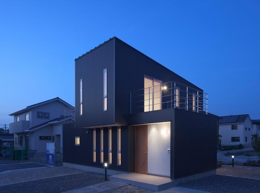 清瀬の家の写真 外観(夕景)