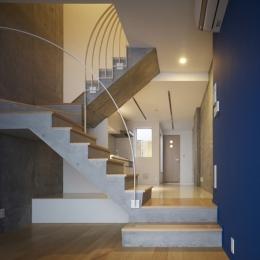 代々木ハウス (リビング・階段 2)