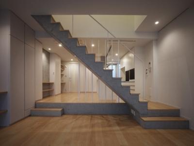 リビング・階段 3 (代々木ハウス)
