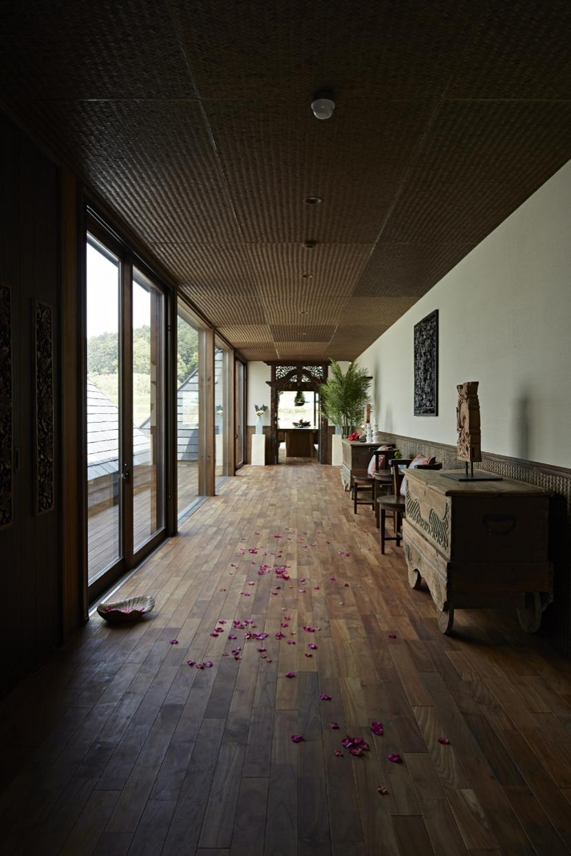 阿蘇・Villa Bの部屋 ギャラリーのような廊下