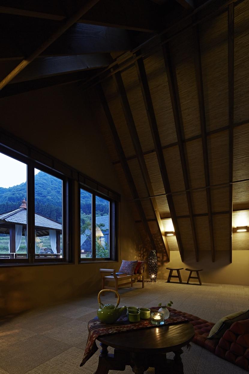 阿蘇・Villa Bの部屋 雑魚寝部屋2(夜景)
