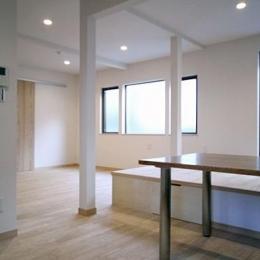 T邸戸建住宅リノベーション (リビングダイニング 2)
