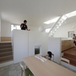 曙橋の家 / 都心の小さな家 (ダイニング / ダイニングからLDKを見る)