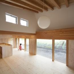 武蔵増戸の家 / 郊外の庭家 (リビング / 開放的なLDK)