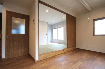 リビング・和室 (築40年の家リノベーション)