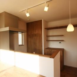 シンプルかわいい 古谷上の家 (キッチン)