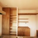 シンプルかわいい 古谷上の家の写真 キッチン収納