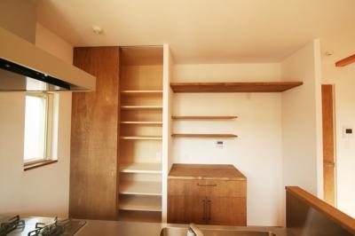 キッチン収納 (シンプルかわいい 古谷上の家)