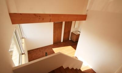 シンプルかわいい 古谷上の家 (階段スペース)