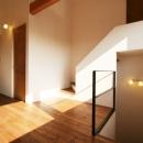 シンプルかわいい 古谷上の家の写真 階段上ロビー