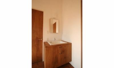 シンプルかわいい 古谷上の家 (洗面所)
