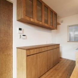 岸町の家 -oneself style- (キッチン収納)