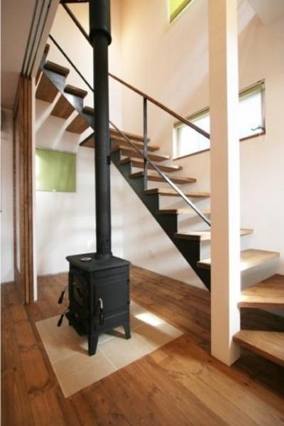 暖炉 (岸町の家 -oneself style-)