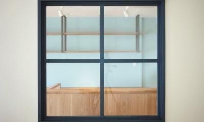 東陽町リノベーション (室内窓)