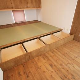 岸町の家 -oneself style- (小上がり畳スペース(床下収納))