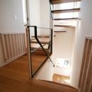 ぬくもりのある家 大間木の家の写真 階段(中部)