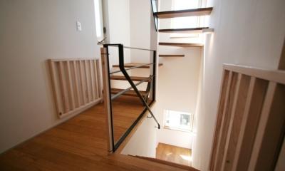 ぬくもりのある家 大間木の家 (階段(中部))