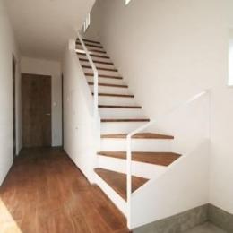 シンプルに暮らす 三室の家 (階段(下部))