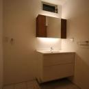 シンプルに暮らす 三室の家の写真 洗面所
