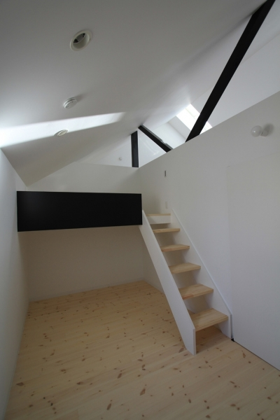 ロフトのような子供室 (オウチ18・仙台 SOHOの家)