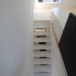 オウチ18・仙台 SOHOの家 (階段見下ろし)