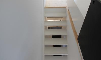 仙台 SOHOの家 OUCHI-18 (階段見下ろし)