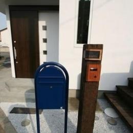 ミックススタイル 上青木の家 (郵便受&表札)