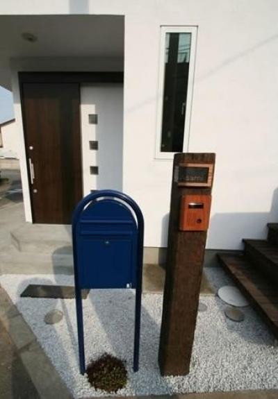 郵便受&表札 (ミックススタイル 上青木の家)