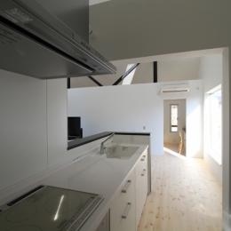 オウチ18・仙台 SOHOの家の写真 半クローズのキッチン