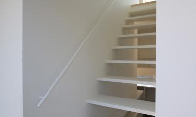 仙台 SOHOの家 OUCHI-18 (蓄熱暖房を備えた階段室)