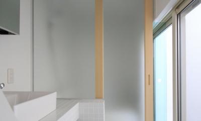 仙台 SOHOの家 OUCHI-18 (光庭のある洗面所)