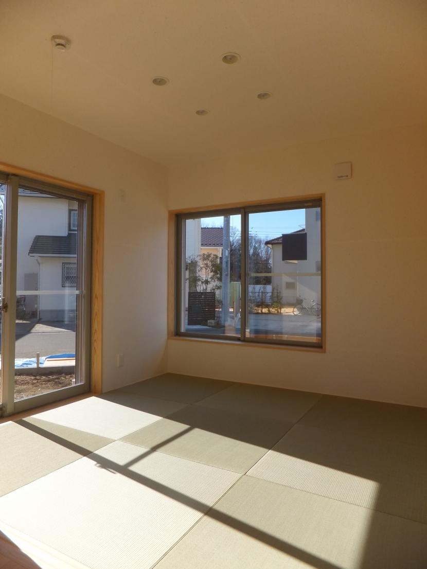 台形の変形敷地に建つ30坪の家の部屋 和室