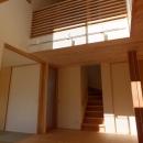 変形敷地に建つ陽がサンサン降りそそぐ家 埼玉県飯能市・O邸の写真 吹抜け