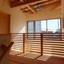 変形敷地に建つ陽がサンサン降りそそぐ家 埼玉県飯能市・O邸の写真 2階ホール