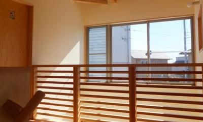 2階ホール|変形敷地に建つ陽がサンサン降りそそぐ家 埼玉県飯能市・O邸