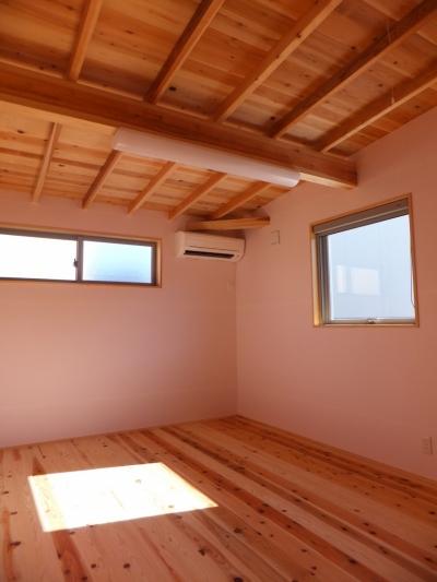 子供部屋 (変形敷地に建つ陽がサンサン降りそそぐ家 埼玉県飯能市・O邸)