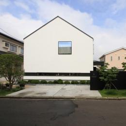 オウチ18・仙台 SOHOの家 (イエ型のシンプルな外観)